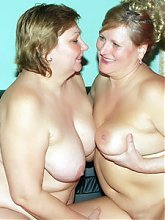Anna and Yolanda are big fat and very horny lesbians having oral sex in the kitchen